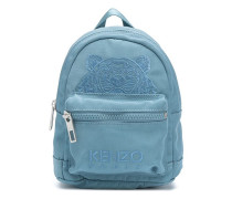 Tiger-embroidered backpack