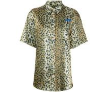 Hemd mit Leoparden-Print