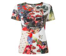 T-Shirt mit Patchwork-Effekt
