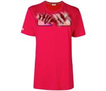 'Bag Bugs' T-Shirt mit Fuchspelzbesatz