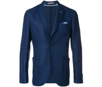 single breasted fitted blazer