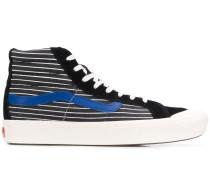 stripe print hi-top sneakers