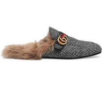 Princetown herringbone slipper with Double G