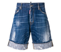 Jeansshorts in Distressed-Optik