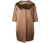 oversized cropped sleeve coat