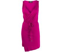 belted waist wrap dress