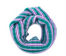 striped plissé scarf