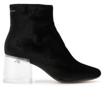 Stiefel mit transparentem Blockabsatz