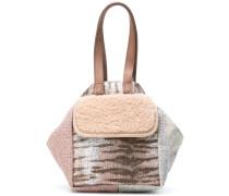 metallic mini bucket bag