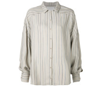 striped pattern loose shirt