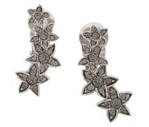 star fish clip-on crystal earrings