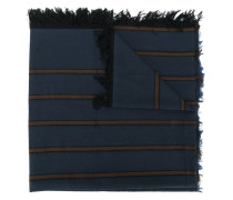 Ausgefranster Schal mit Streifen