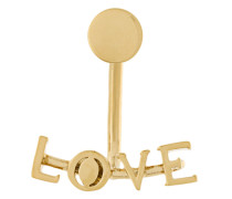 Ohrstecker mit 'Love'-Slogan
