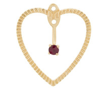 18kt 'Heart' Goldohrringe mit Rubinen