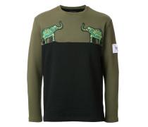 Sweatshirt mit Elefanten-Patches