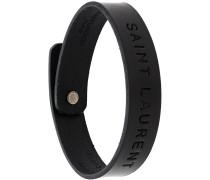 logo embossed bracelet