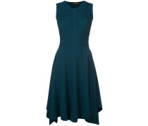 gathered flared dress