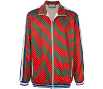 Jacke mit diagonalen Streifen