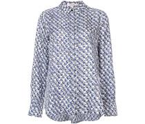 Seidenhemd mit geometrischem Muster