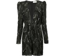 Camouflage-Kleid mit tiefem V-Ausschnitt