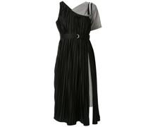 Asymmetrisches Kleid mit Falten