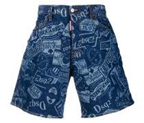 Weite Jeans-Shorts