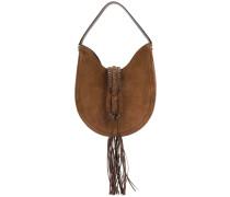tassel detail hobo bag