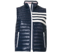 Satin-Finished Quilted Down Fill Vest In Nylon Tech
