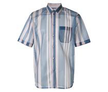Gestreiftes Hemd in Netzoptik