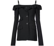 cold-shoulder fitted jacket