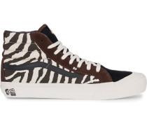 hi-top animal print sneakers