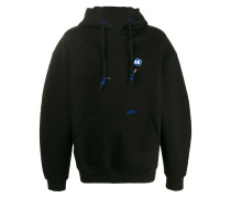 oversized logo patch hoodie