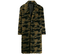 Oversized-Mantel mit Camouflage-Print