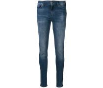 Skinny-Jeans mit seitlichen Streifen