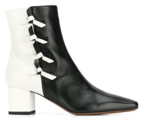 contrast ankle boots