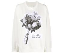 Sweatshirt mit Blumen-Patch