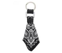 Schlüsselanhänger mit Seiden-Bandana