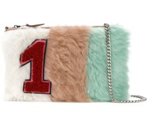 Shearling-Clutch mit Patch