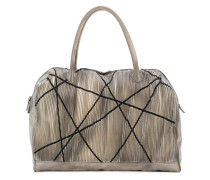 large textured tote bag