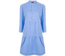 gathered shirt dress
