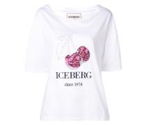 T-Shirt mit Paillettenkirschen