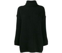 waffle-knit turtleneck jumper