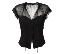 front buttoned blouse