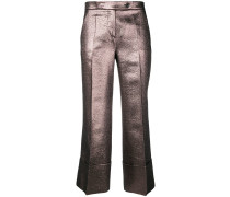 Hose im Metallic-Look