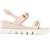 embellished sling-back sandals