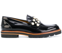 'Pearl Mirror Jet' Penny-Loafer