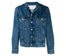 rock print denim jacket