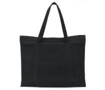 oversized pleated tote