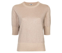 three-quarter sleeves knitted blouse