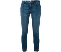 Cropped-Skinny-Jeans mit Taschen